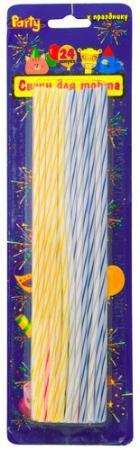 Набор свечей Action! ЭЛЕГАНТНЫЕ 24 шт 16 см API0308 набор свечей омский cвечной завод цвет оранжевый высота 24 см 10 шт