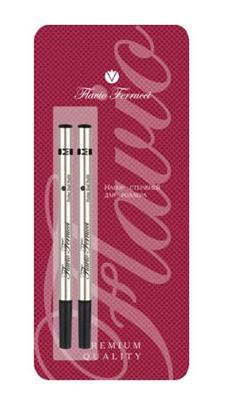 Набор стержней для роллера, 2 шт. в блистере, черные чернила, M FF-RR0001 набор стержней для шариковой ручки 2 шт в блистере синие чернила m ff br0002