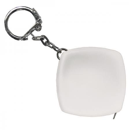 Брелок-рулетка, пластик, белый Lbr10466/Б рулетка пластик белый
