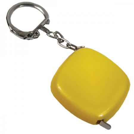 Брелок-рулетка, пластик, желтый Lbr10472/Ж карманный рулетка практическая брелок брелок кольцо брелок брелок держатель