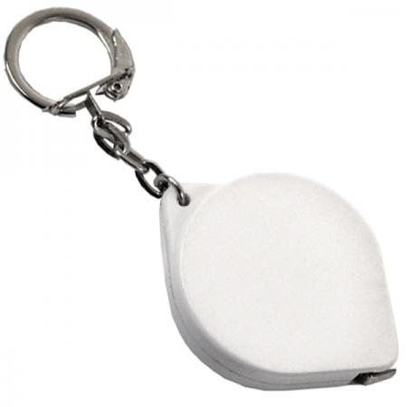 Брелок-рулетка, пластик, белый Lbr10475/Б рулетка пластик белый