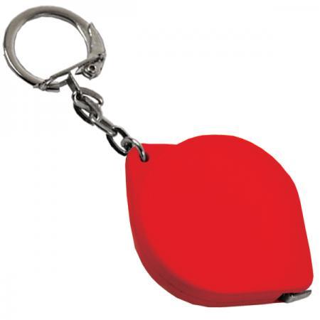 Брелок-рулетка, пластик, красный Lbr10475/К карманный рулетка практическая брелок брелок кольцо брелок брелок держатель