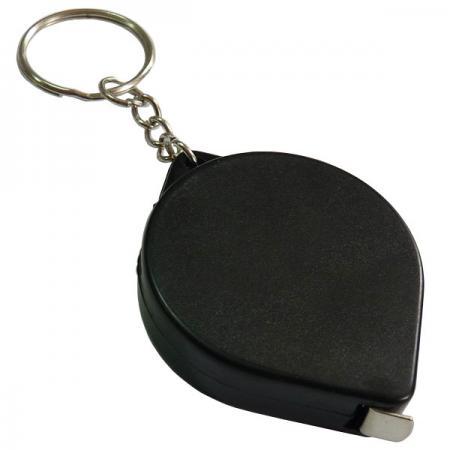 Брелок-рулетка, пластик, черный Lbr10475/Ч брелок рулетка квадратный пластик черный lbr10478 ч