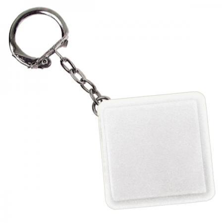 Брелок-рулетка квадратный, пластик, белый Lbr10478/Б рулетка пластик белый