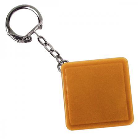 Брелок-рулетка квадратный, пластик, оранжевый Lbr10478/ОР