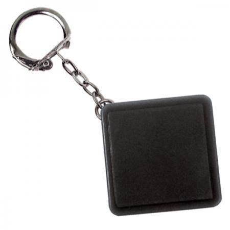 Брелок-рулетка квадратный, пластик, черный Lbr10478/Ч брелок рулетка квадратный пластик оранжевый