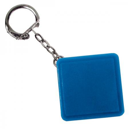 Брелок-рулетка квадратный, пластик, синий Lbr10478/С брелок рулетка квадратный пластик зеленый