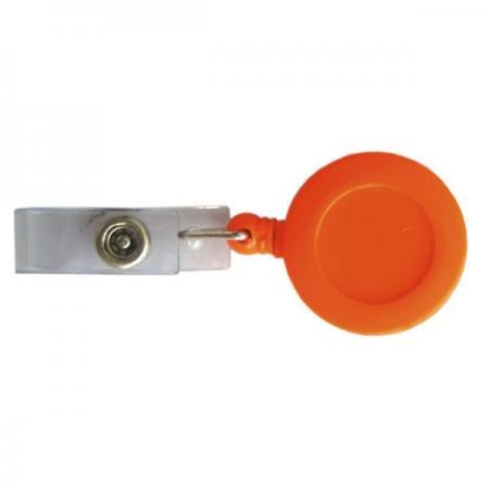 Брелок-ретрактор с вытяжной нитью, пластик,оранжевый Crt20002/ОР