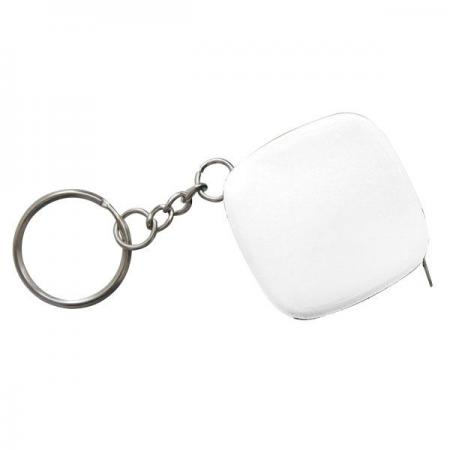 Брелок-рулетка, пластик, белый Lbr10472/Б рулетка пластик белый