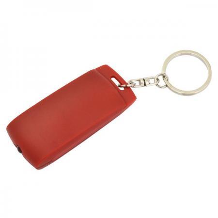 Брелок-фонарик, красное основание, красный корпус, индивид. стикер Lbf1301RD/RD брелок фонарик пластик красный