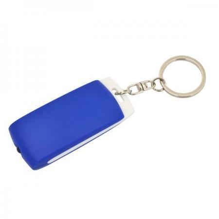 Брелок-фонарик, белое основание, синий корпус, индивид. стикер Lbf1302WH/BU аппликатор этикеток 65 30 apn 30