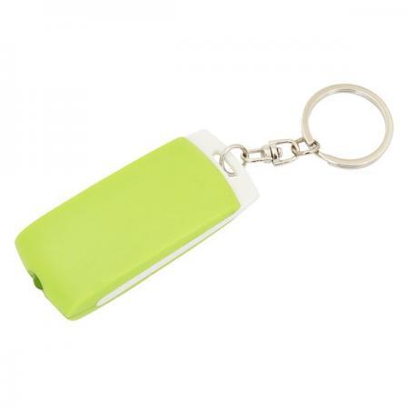 Брелок-фонарик, белое основание, зеленый корпус, индивид. стикер Lbf1302WH/GN фонарик beyblade бейблейд morph lite цвет зеленый