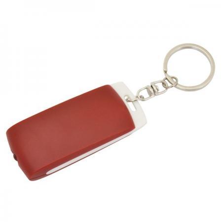 Брелок-фонарик, белое основание, красный корпус, индивид. стикер Lbf1302WH/RD брелок фонарик пластик красный