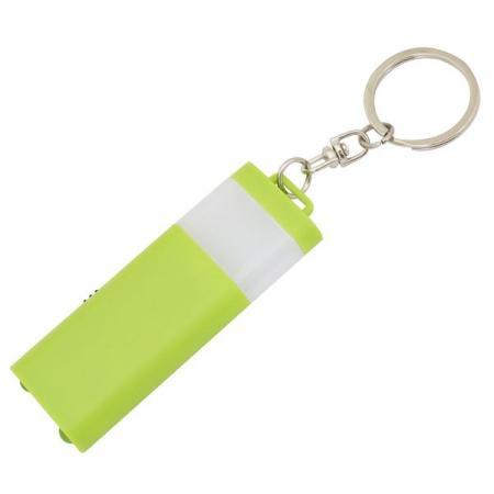 Брелок-фонарик двусторонний, зеленый корпус, индивид. стикер Lbf1303/GN фонарик beyblade бейблейд morph lite цвет зеленый