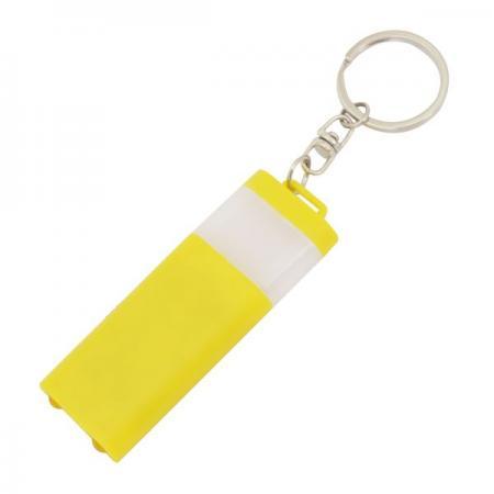 Брелок-фонарик двусторонний, желтый корпус, индивид. стикер Lbf1303/YL
