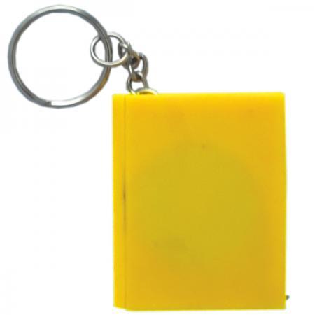 Брелок-рулетка КНИГА, пластик, желтый Cbr20121/Ж