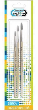 Набор кистей Action! Discovery 3 шт белка DV-ABS002 набор шариковых ручек автоматическая action discovery 2 шт синий dv abp162 2 dv abp162 2