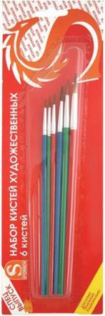 Набор кистей Художественные материалы Степная Лисица 6 шт SB525A/SPEC tnl набор кистей 3 шт 0 00 000