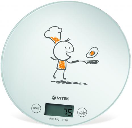 Весы кухонные Vitek VT-8018 W белый кухонные весы vitek кухонные весы vitek vt 8018 w