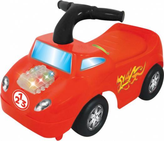 Каталка-пушкар Kiddieland Маленький гонщик пластик от 1 года на колесах красный 0661148541635 каталка пушкар kiddieland минни 2 в 1 пластик от 1 года на колесах розовый 0661148537102