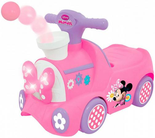Каталка-пушкар Kiddieland Паровозик Минни с шарами пластик от 1 года музыкальная розовый 661148509482