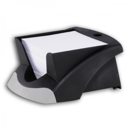 Подставка для бумажного блока NOTE BOX, отделение для ручки, 500 листов 9х9 см, черная подставка для бумажного полотенца regent