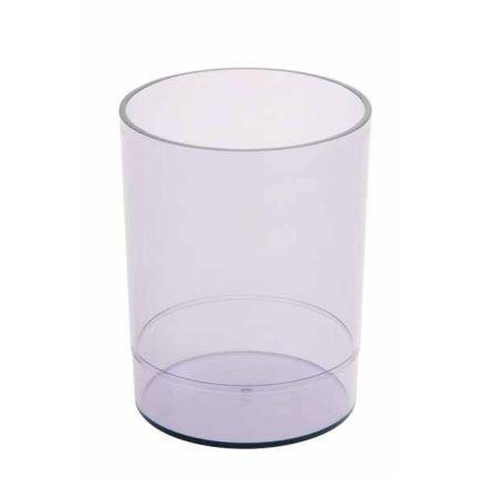 Офисная стакан-подставка для канц. принадлежностей ОФИС, тонир., прозрачная СН15 цена