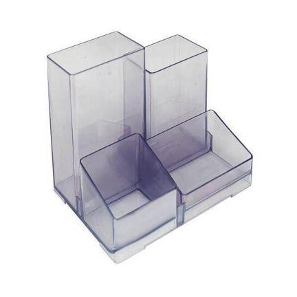 Подставка для канц. принадлежностей ЮНИОР, тонир., серая стакан подставка для школьных канц принадлежностей ассорти