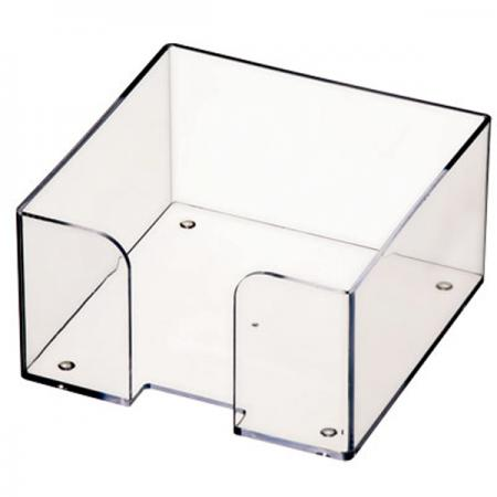Подставка для бумажного блока, разм. 9х9х5 см, прозрачная ПЛ61 подставка для бумажного блока стамм пластиковая 90х90х90 мм прозрачная пл41