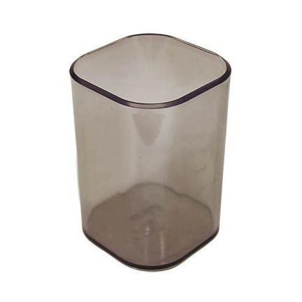 Офисная стакан-подставка для канц. принадлежностей ВИЗИТ, прозрачная, тонированная CH35 стакан подставка для школьных канц принадлежностей ассорти