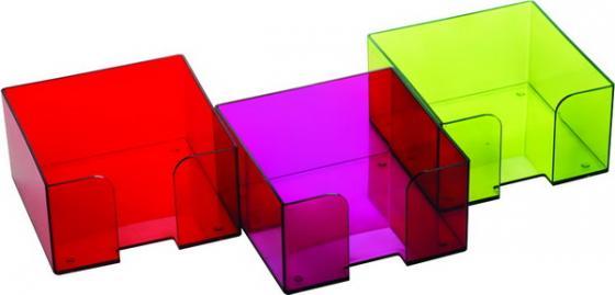 Подставка для бумажного блока, разм. 9х9х5 см, тонированная /Слива/ ПЛ52