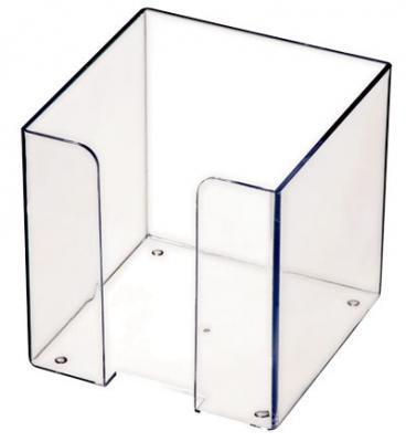 Фото - Подставка для бумажного блока, разм. 9х9х9 см, прозрачная ПЛ41 подставка