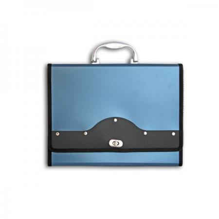 Папка-портфель METALLIC с металлическим замком, 13 отделений, А4, синяя IEF01/BL папка proff а4 60 карманов синяя