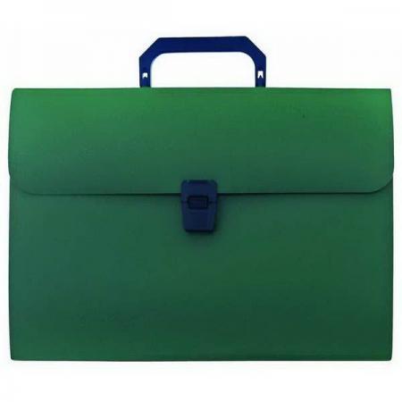 Папка-портфель, 13 отделений, А4, зеленая IEF08/GN папка портфель бюрократ bpp6lgrn 6 отделений a4 зеленый