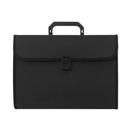Папка - портфель с ручкой на 13 отделений, черный SEF811/BK цена