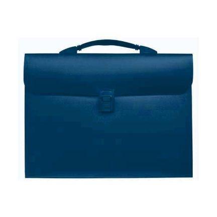 Папка - портфель с эргономичной ручкой на 13 отделений, синий SEF810/BU папка портфель бюрократ bpp6lgrn 6 отделений a4 зеленый
