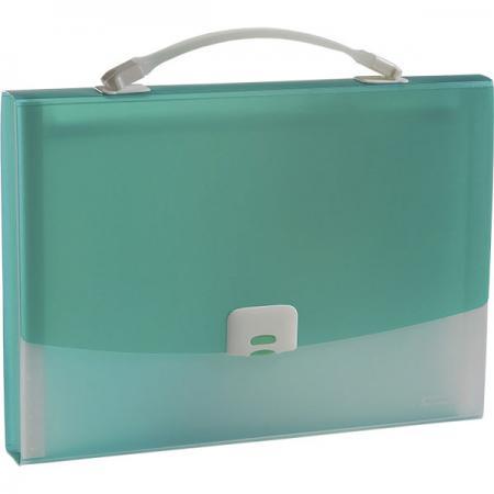 Папка-портфель FOCUS А4, 13 отделений, PP, 0,7 мм, зеленый 0410-0021-04