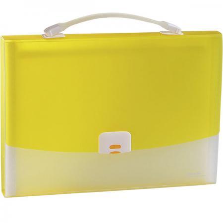 Папка-портфель FOCUS А4, 13 отделений, PP, 0,7 мм, желтый 0410-0021-06