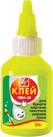 Клей ПВА-М, 25 гр, в цветном флаконе 20С1350-08 клей пва луч супер 25 г