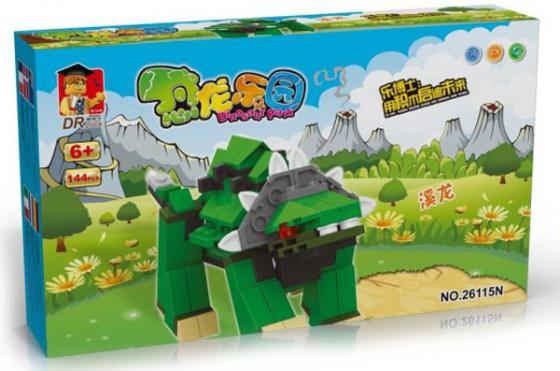 Конструктор Dr.Luck Динозавр 144 элемента 26115 toytoys конструктор динозавр toto 032