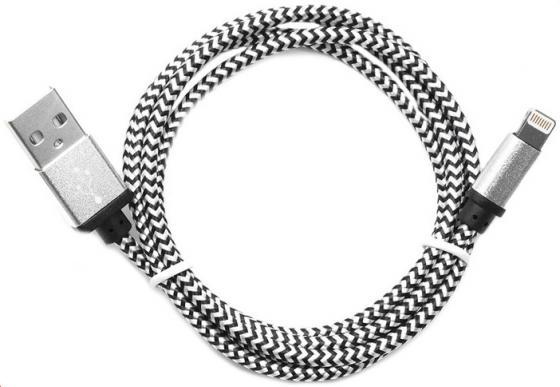 Кабель Lightning 1м Cablexpert круглый CC-ApUSB2sr1m кабель usb 2 0 cablexpert am microbm 5p 1м золотой металлик cc musbgd1m