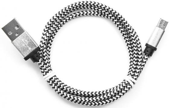 Кабель USB 2.0 AM-microBM 1м Gembird серебристый CC-mUSB2sr1m кабель usb 2 0 am microbm 1м gembird серый металлик cc musbgy1m