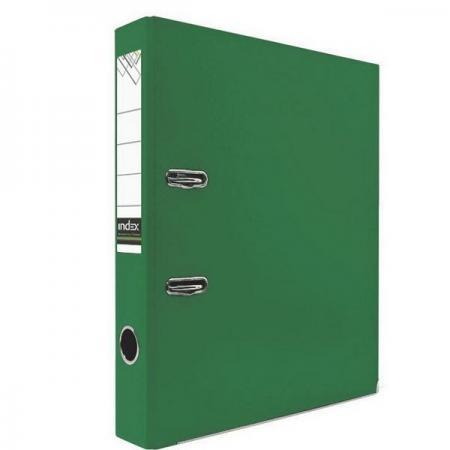 Папка-регистратор с покрытием PVC и металлической окантовкой, 50 мм, А4, зеленая IND 5/30 NEW ЗЕЛ