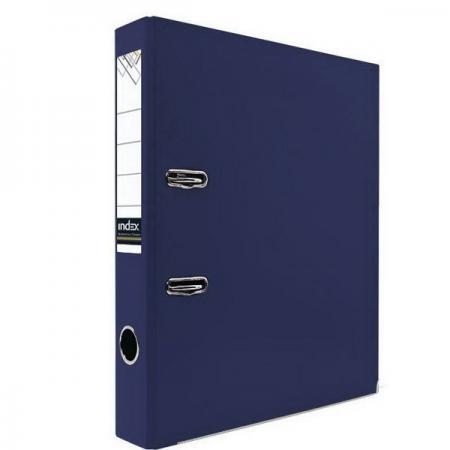 Фото - Папка-регистратор с покрытием PVC и металлической окантовкой, 50 мм, А4, темно-синяя IND 5/30 PVC NEW ТС pvc