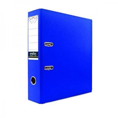 Фото - Папка-регистратор с покрытием PVC и металлической окантовкой, 80 мм, А4, синяя IND 8/24 PVC NEW СИН pvc