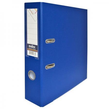 Папка-регистратор с покрытием PVC, 80 мм, А4, синяя IND 8/50 PP BU папка регистратор с покрытием pvc 80 мм а4 черная ind 8 24 pvc чер