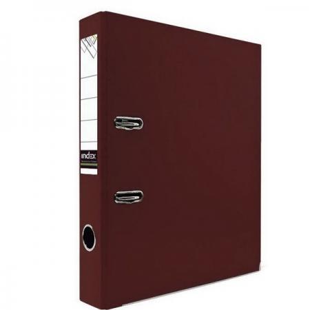 Папка-регистратор с покрытием PVC и металлической окантовкой, 50 мм, А4, бордовая IND 5/30 NEW БОР