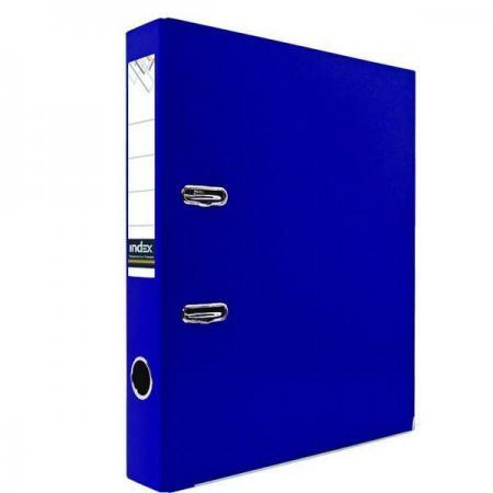 Папка-регистратор с покрытием PVC и металлической окантовкой, 50 мм, А4, синяя IND 5/30 PVC NEW СИН папка proff а4 60 карманов синяя