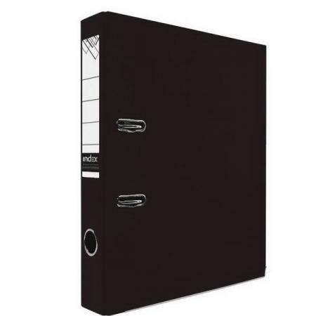 Папка-регистратор с покрытием PVC и металлической окантовкой, 50 мм, А4, черная IND 5/30 PVC NEW ЧЕР папка регистратор с покрытием pvc 80 мм а4 черная ind 8 24 pvc чер