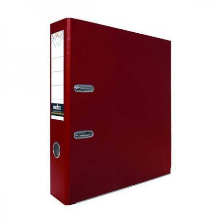 Папка-регистратор с покрытием PVC, 50 мм, А4, бордовая IND 5/30 PVC БОРД